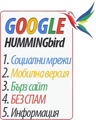 Google Hummingbird - Най-важните правила!